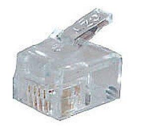 Modulaire plug RJ11(10 stuks)