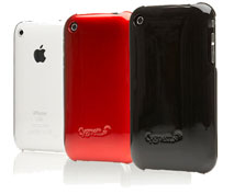 iPhone 3G/3GS Cygnett Form 3-Pack (Black, Red, Transparant)