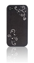iPhone 4/4S Zwart Elegant Crystal 3D