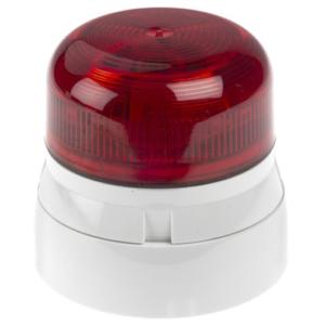belsignaal led flitslicht analoog rood 230Vac LED 1Hz
