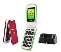 Doro PhoneEasy 410gsm Burgundy incl. Cradle