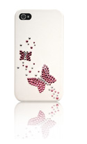 iPhone 4/4S Swarovski Butterfly Twins